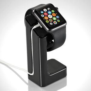 Callstel Eleganter 3in1-Ständer für Apple Watch, schwarz
