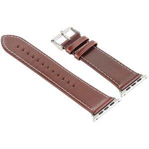 Callstel Glattleder-Armband für Apple Watch 42 mm, braun