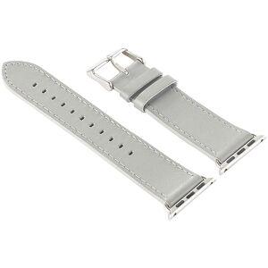 Callstel Leder-Armband für Apple Watch 38 mm, grau