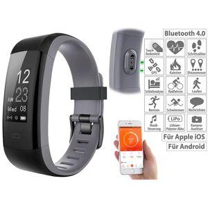 newgen medicals Premium-GPS-Fitness-Armband, XL-Touchdisplay, Puls, 14 Sportarten
