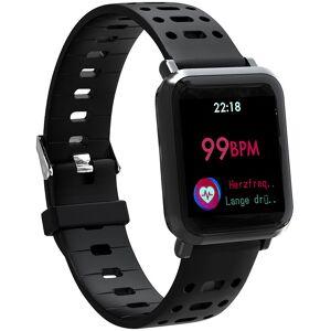 newgen medicals Fitness-Uhr SW-320.hr mit Herzfrequenz-Anzeige, Bluetooth, IP68