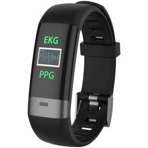 newgen medicals Fitness-Armband, Blutdruck-/Herzfrequenz-/EKG-Anzeige, Bluetooth, App