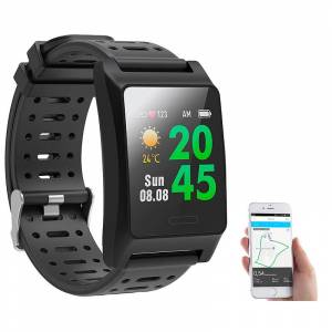 newgen medicals Fitness-GPS-Smartwatch, Herzfrequenz-Anzeige, Farb-Display, App, IP68