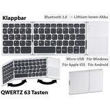 GeneralKeys Faltbare Tastatur mit Bluetooth, Touchpad für Android, iOS und Windows