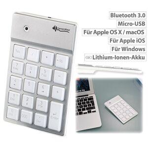 GeneralKeys Nummernblock mit Bluetooth, 19 beleuchteten Tasten, für Mac, PC & Co.