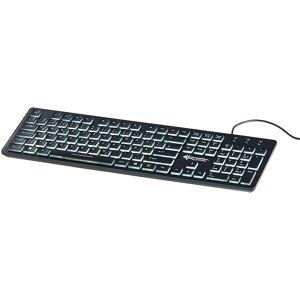 GeneralKeys Beleuchtete USB-Tastatur mit Nummernblock, Schweizer Layout (QWERTZ)