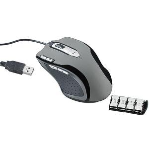 Mod-it Professionelle Gaming-Laser-Maus LMX-5005 mit 5.000 dpi