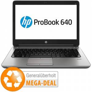 "HP Probook 640 G1, 35,6 cm/14"", Core i3, 8GB, 240GB SSD (generalüberholt)"