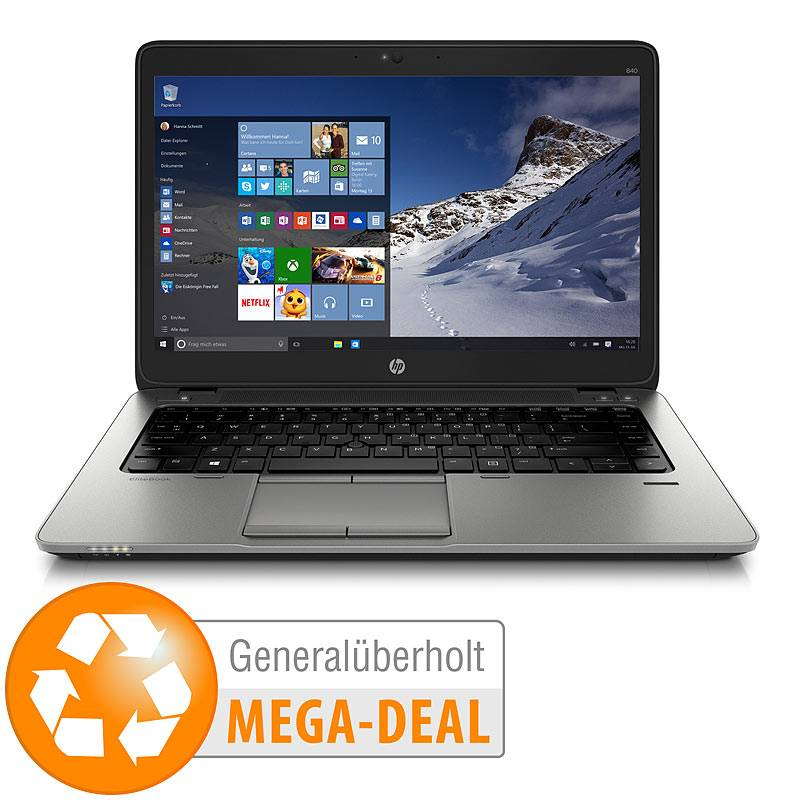 """HP EliteBook 840 G1, 14"""", FullHD, Core i7, 8 GB, 256 GB (generalüberholt)"""