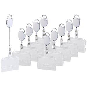 General Office 10er-Set Ausweishüllen aus Hartplastik, 60-cm-Jojo-Befestigungs-Clip