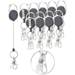 General Office 10er-Set Schlüssel- und Ausweis-Jojos, extra starke Feder & Gürtelclip