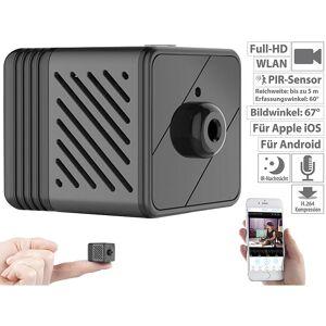 7links Micro-IP-Kamera mit Full-HD, Akku, PIR, Nachtsicht, 6 Monate Stand-by