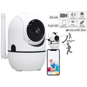 7links WLAN-IP-Überwachungskamera mit Objekt-Tracking und App, Full HD, 360°