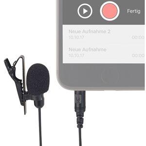 auvisio Mini-Ansteck-Kondensator-Mikrofon für Smartphone, Tablet & PC