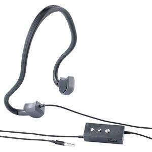 auvisio Kabel-Sport-Headset BC-20 mit Bone Conduction, für Smartphone