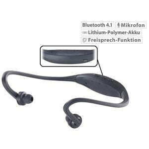 auvisio Kabelloses Sport-Headset mit Bluetooth 4.1 und Akku