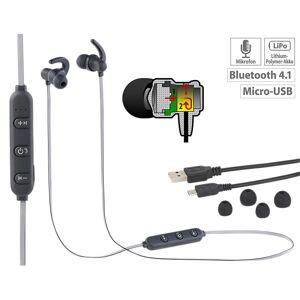 auvisio In-Ear-Headset mit Bluetooth, Fernbedienung & patentiertem Soundsystem
