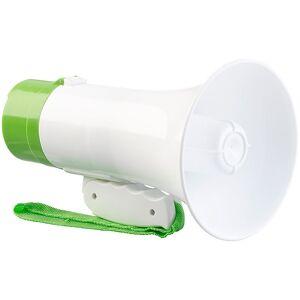 infactory Megaphon mit Voice-Recording, Sirene & Akku, 300 m Reichweite, 10 Watt