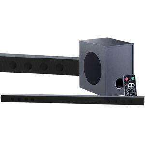 auvisio Soundbar mit Bluetooth, 3D-Sound-Effekt und externem Subwoofer, 180 W