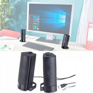 auvisio 2in1-PC-Stereo-Lautsprecher und Soundbar, 10 Watt, USB-Stromversorgung