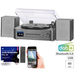 auvisio Digitale HiFi-Anlage & Digitalisierer, Internet- & DAB+Radio, Software