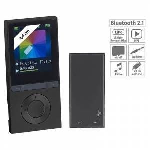 auvisio MP3-Player V3 mit UKW-Radio & E-Book-Reader, microSD, Bluetooth 2.1