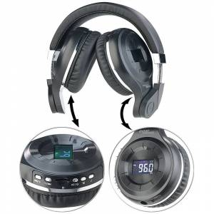 auvisio MP3-Kopfhörer mit Bluetooth, Freisprech-Funktion, FM-Radio & AUX-in