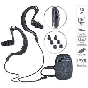 auvisio Wasserdichter Sport-MP3-Player DMP-450.x8 mit 8 GB Speicher, IPX8