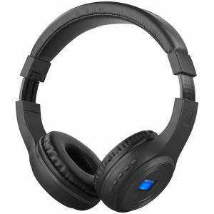 auvisio Faltbares Over-Ear-Headset mit Bluetooth, MP3-Player, FM & LCD-Display