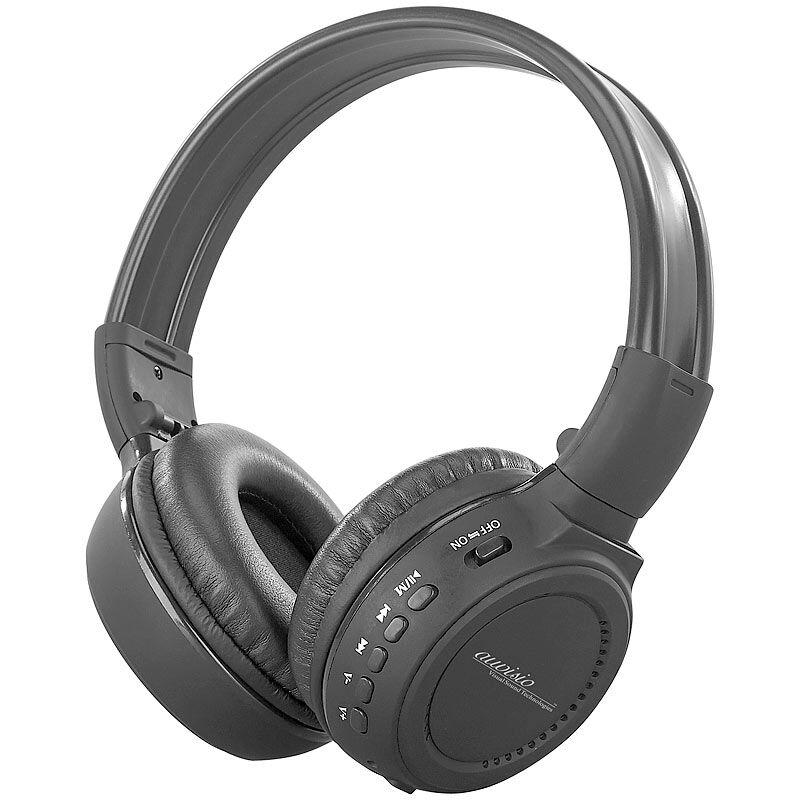 auvisio HiFi-Kopfhörer MPH-232.SD mit integriertem MP3-Player & Radio