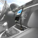 Callstel Kfz-Smartphone-Schwanenhals-Halterung, USB-Ladeport, Micro-USB-Stecker