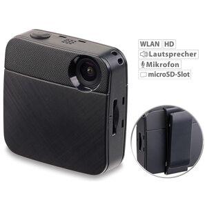 Somikon Mini-HD-Body-Cam mit WLAN & Livestream-Funktion für YouTube & Facebook