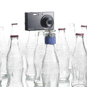 Somikon Flaschenkopf-Stativ für alle Digitalkameras mit Stativgewinde