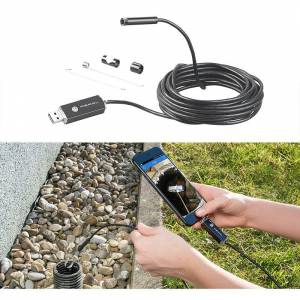 Somikon USB-HD-Endoskop-Kamera für PC und OTG-Android-Smartphone, 5 m, IP67