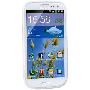 Pearl Silikon-Schutzhülle für Samsung Galaxy S3, weiss/transparent