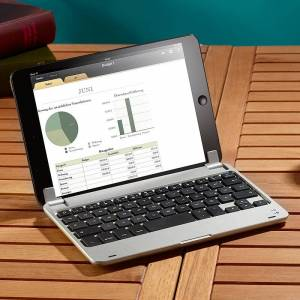 GeneralKeys Aufsteckbare Tastatur mit Bluetooth für iPad mini/mini 2/3 DEUTSCH
