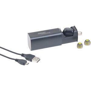 auvisio In-Ear-Mono-Headset mit Powerbank-Etui, Siri- & Google-kompatibel