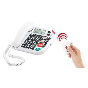 simvalley communications Notruf-Senioren-Telefon XLF-80Plus mit Garantruf, weiss