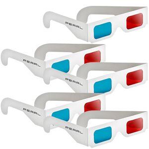 Pearl 3D-Brillen rot/cyan im praktischen 5er-Spar-Paket