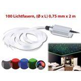 Lunartec Glasfaser-RGB-LED-Sternenhimmel mit Fernbedienung und 100 Lichtfasern