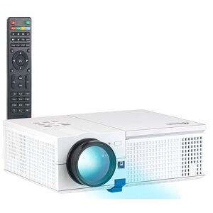 SceneLights LED-LCD-Beamer mit Media-Player, 1280 x 800 Pixel (HD) und 2.400 Lumen