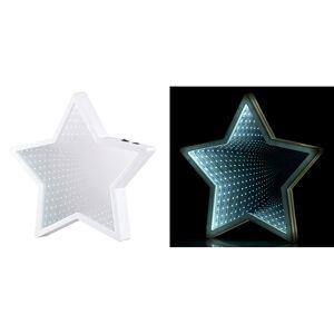Lunartec Sternförmiger Unendlichkeitsspiegel, 60 weisse LEDs, batteriebetrieben