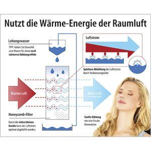 Sichler Haushaltsgeräte Luftkühler mit Wasserkühlung LW-440.w, 65 Watt, Swing-Funktion
