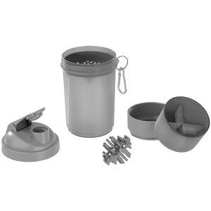 Pearl Fitness-Drink-Shaker mit 2 Pulverkammern & Mischball, 500 ml, BPA-frei