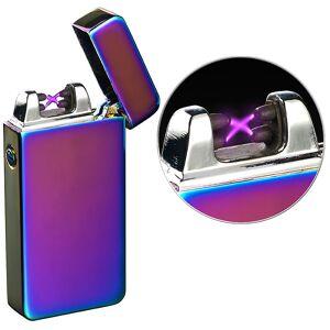 Pearl Elektronisches USB-Feuerzeug mit doppeltem Lichtbogen & Akku, violett
