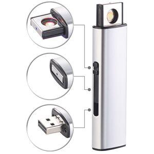 Pearl Elektronisches Akku-USB-Feuerzeug, Glühspirale, windgeschützt, 7 Watt