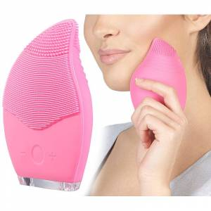 Sichler Beauty 2er Pack Elektrische 3-Zonen-Gesichtsreinigungs-Bürste aus Silikon,
