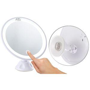 Sichler Beauty Saugnapf-Kosmetikspiegel mit LED-Licht und Akku, 5-fache Vergrösserung