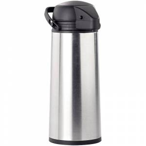 Rosenstein & Söhne Edelstahl-Pump-Vakuum-Isolierkanne, 1,9 Liter