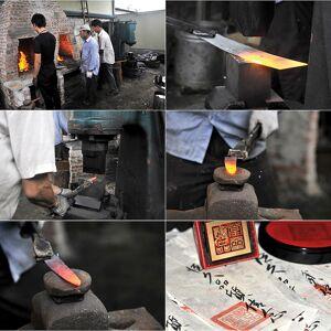 TokioKitchenWare Nakiri Hackmesser mit Stahlgriff, handgefertigt